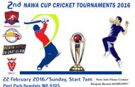 दोस्रो नावा कप क्रिकेट प्रतियोगितामा पर्थका चार टिम टिम भिड्ने