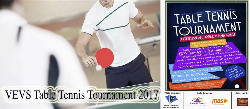 पर्थमा पाचौ खुल्ला टेबुल टेनिस प्रतियोगिता, नेपाल लगायत अन्य देशका खेलाडी पनि प्रतिस्पर्धामा उत्रिने